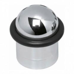 Deurstop met ring chroom