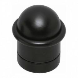 Deurstop met ring mat zwart