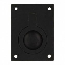 Luikring recht 65mm x 49mm zwart
