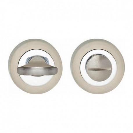WC-sluiting 6mm verdekt met nokken ø52x10mm zamak chroom/nikkel mat