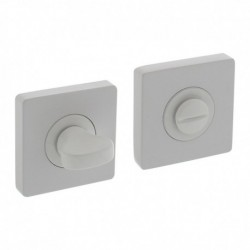 WC-sluiting 8mm verdekt met nokken vierkant 55x55x10mm zamak wit