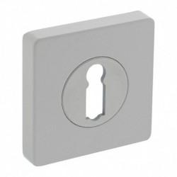 Sleutelplaatje verdekt met nokken vierkant 55x55x10mm zamak wit