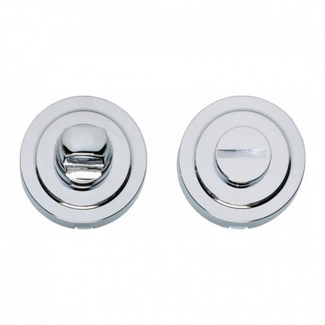 WC-sluiting 8mm kunststof verdekt ø53x12mm met rand, messing verchroomd