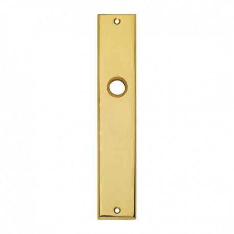 Langschild renovatie blind - 235 mm lang bij 43 mm breed - Messing Gelakt