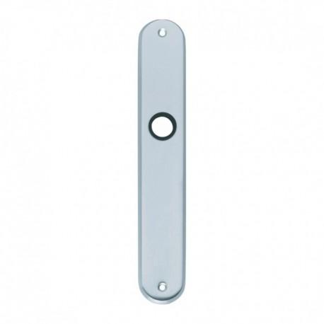 Langschild ovaal blind - 235 mm lang bij 40 mm breed - Chroom Mat