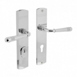 Security set Emily with handle/handle and cylinder protection - chrome