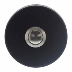 Beldrukker rond verdekt ø53x10 RVS/mat zwart