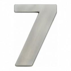 Huiscijfer nr. 7 modern 120mm nikkel mat