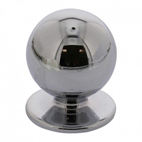 Knop bolrond 20mm chroom
