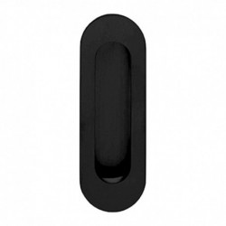 Schuifdeurkom ovaal 120x40mm blind zwart
