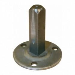 Metalen onderplaat met vaste vierkantstift 8x35mm