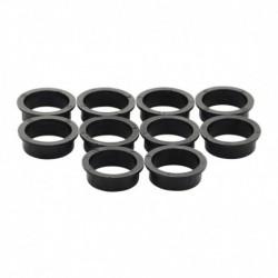 Accessoireset E: 10 nylon ringen 20mm-18mm zwart