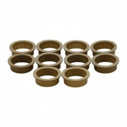 Accessoireset D: 10 nylon ringen 20mm-18mm bruin