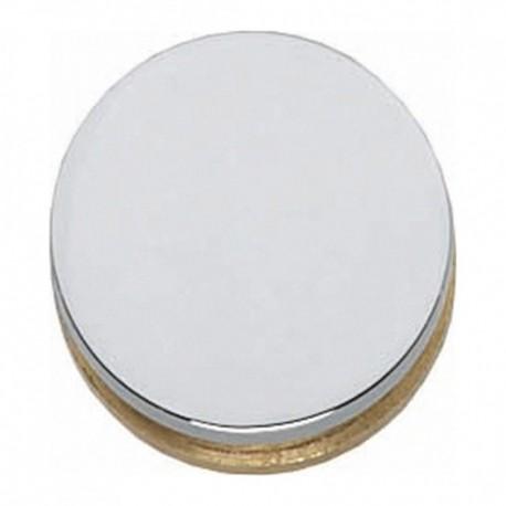 Afdekkapje rond voor krukgat 20mm chroom