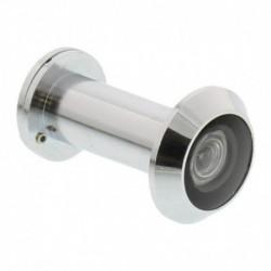 Deurspion 200° chroom deurdikte 35-55mm, 30 min.brandwerend diam 14mm