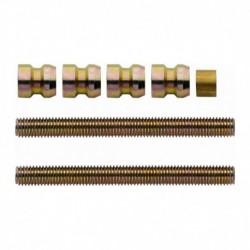 Paarsgewijze bevestiging universeel tbv RVS deurgreep deurdikte 60mm - 80mm